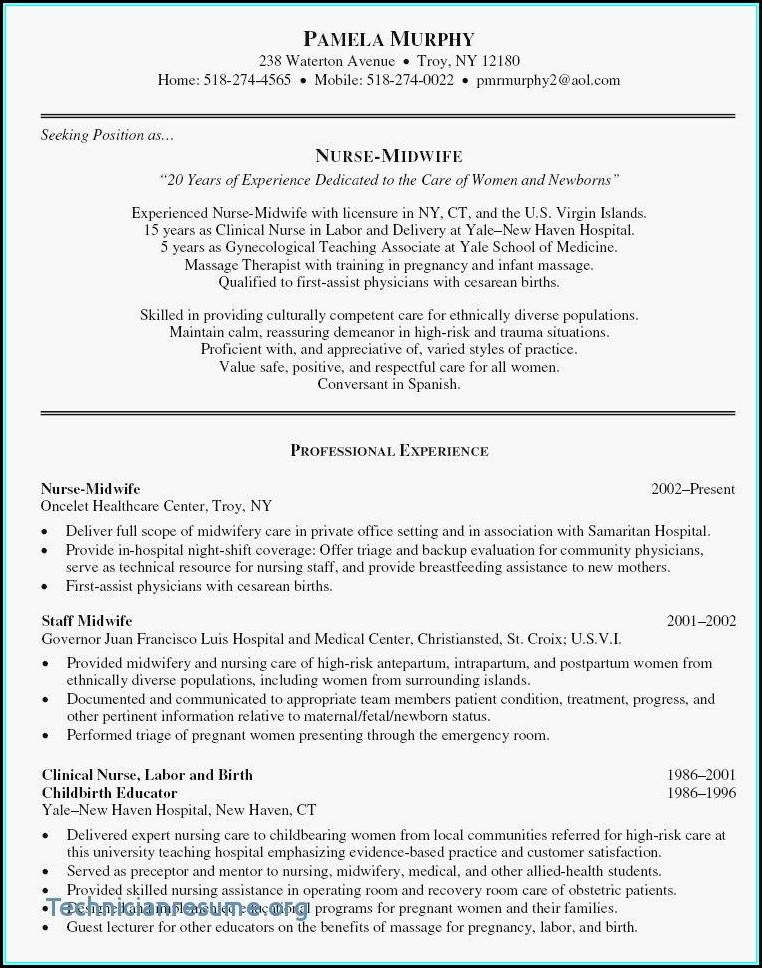 Sample Resume For Nursing Assistant Position
