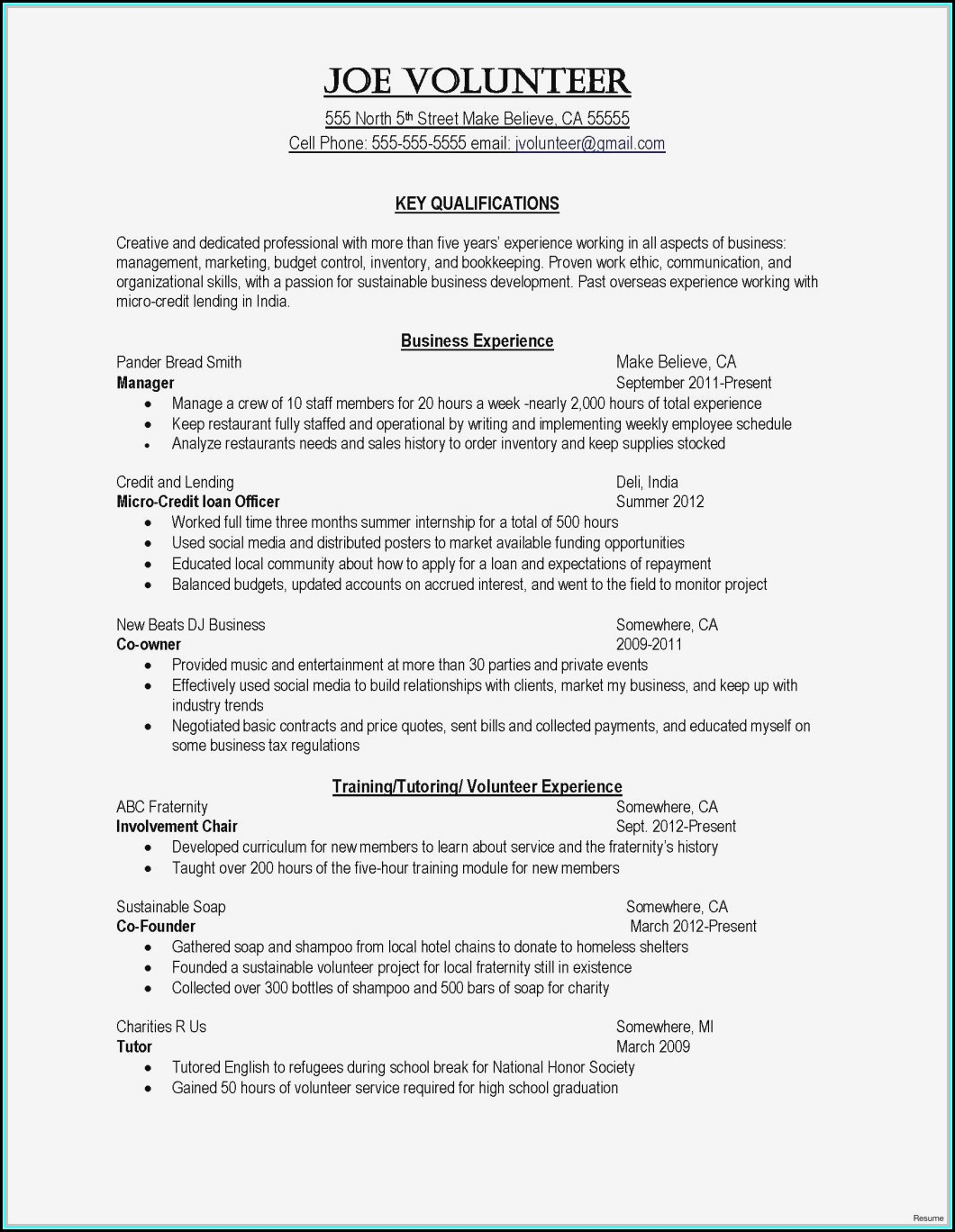 Sample Resume Format For Nursing Assistant