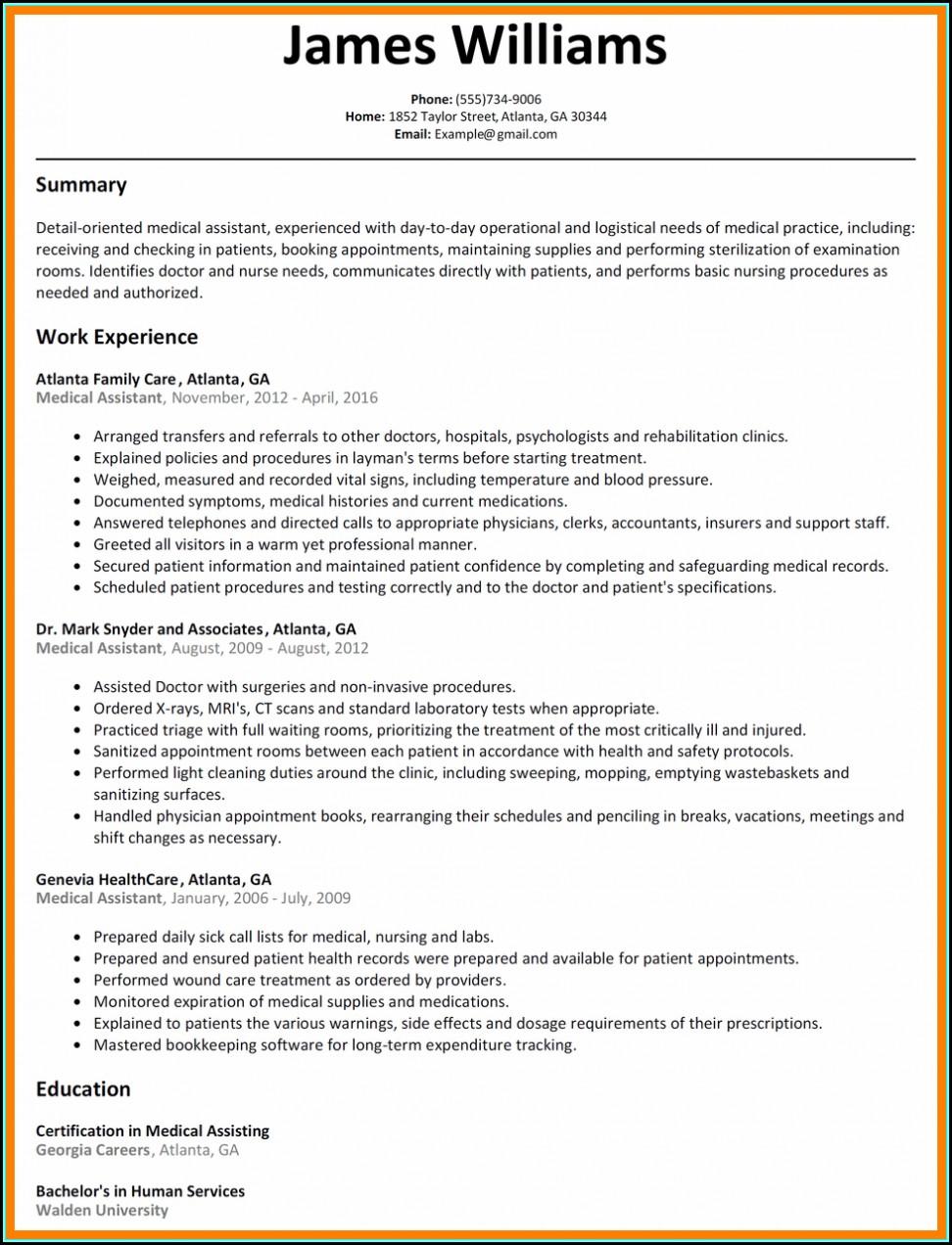 Sample Resume Objective For Nursing Assistant