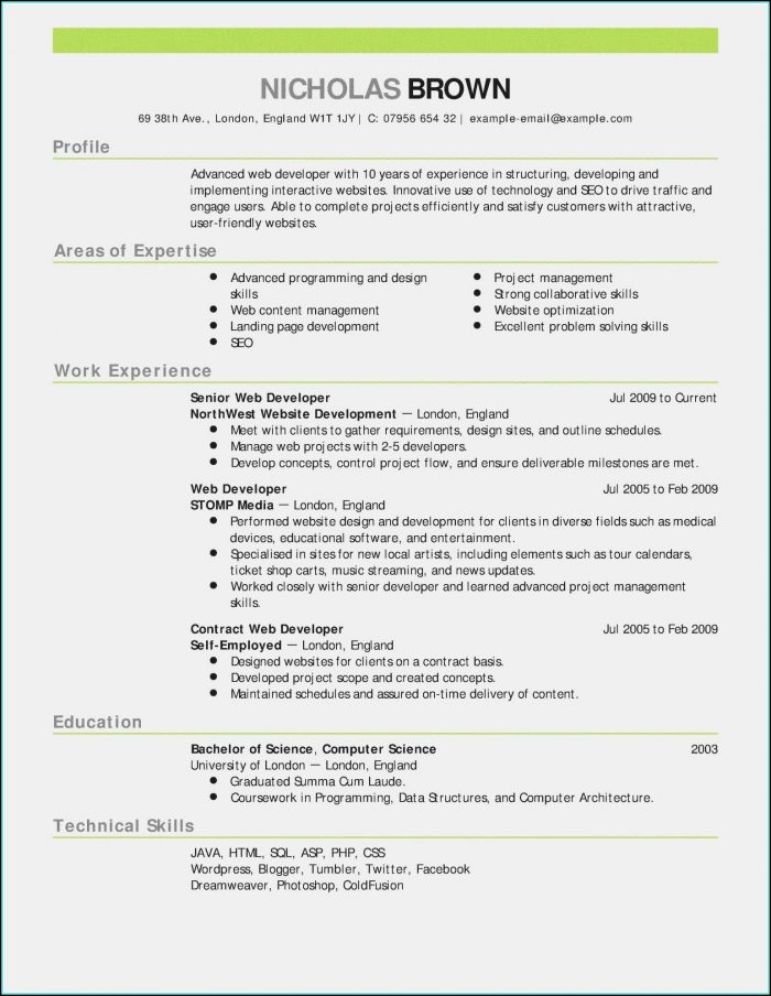 Sample Resume Templates Rn