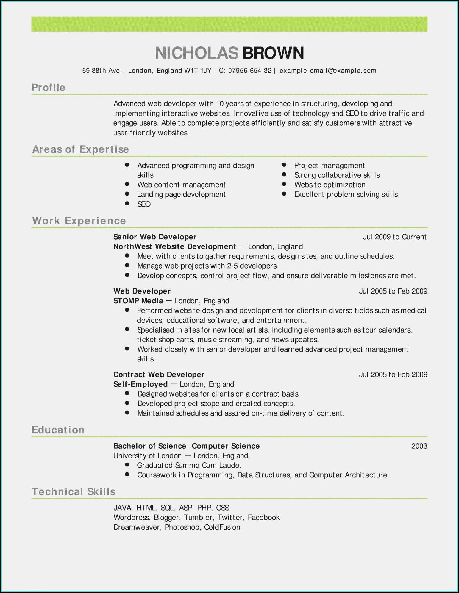 Sample Resume Templates Rn