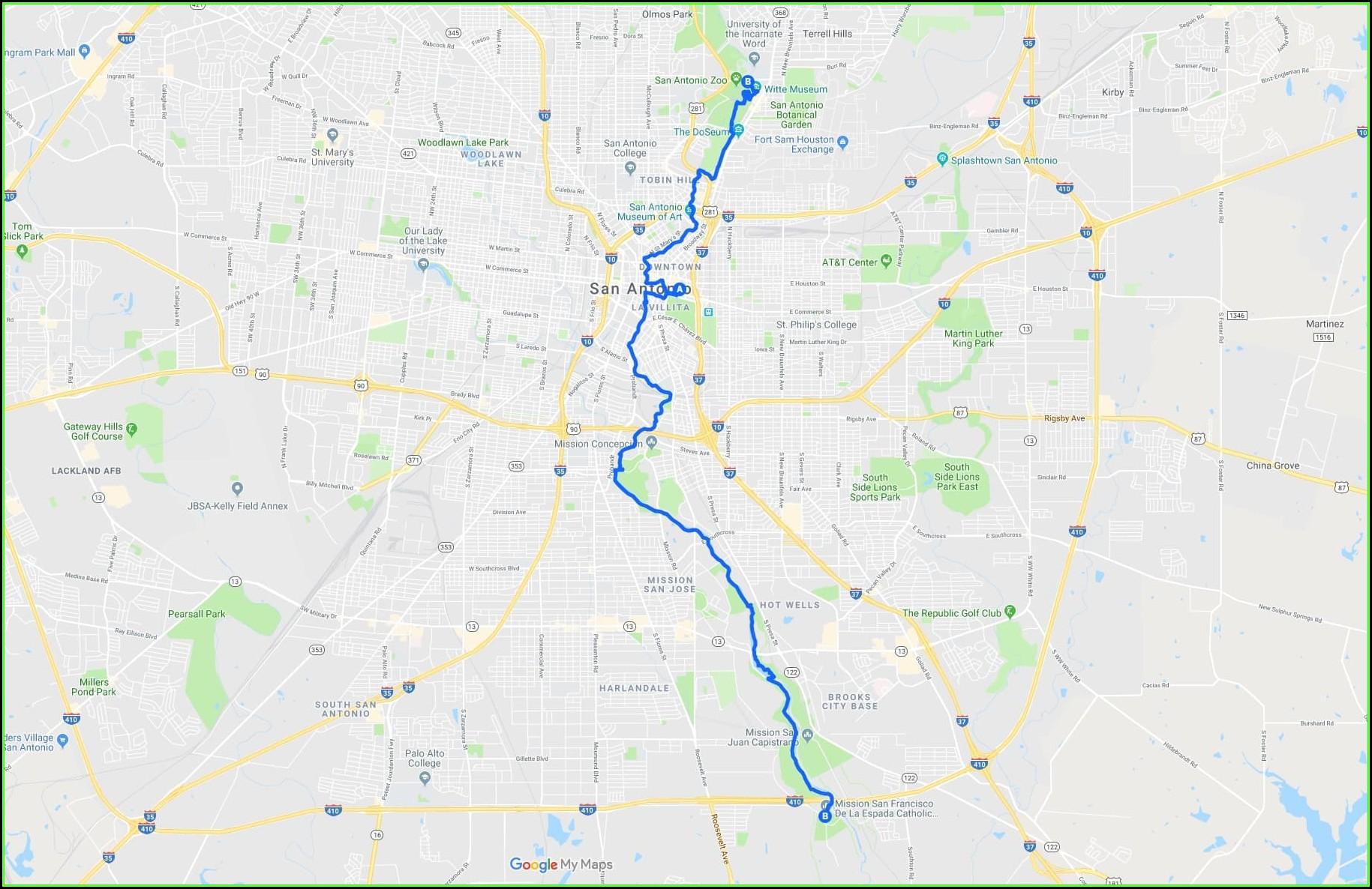 San Antonio Texas Riverwalk Hotel Map