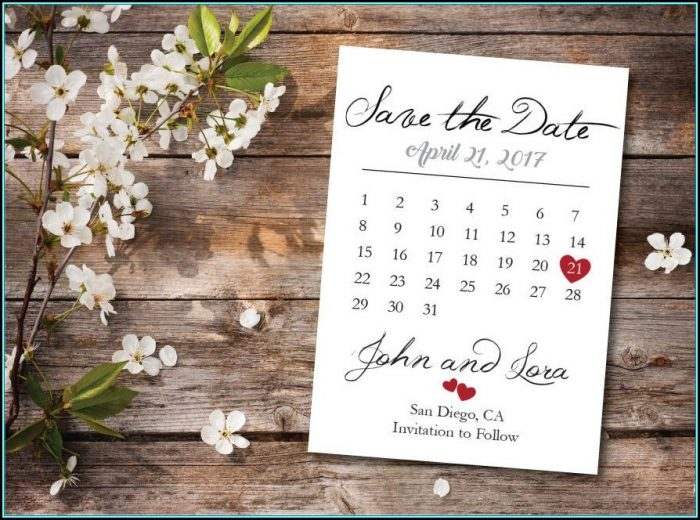 Save The Date Calendar Template 2017