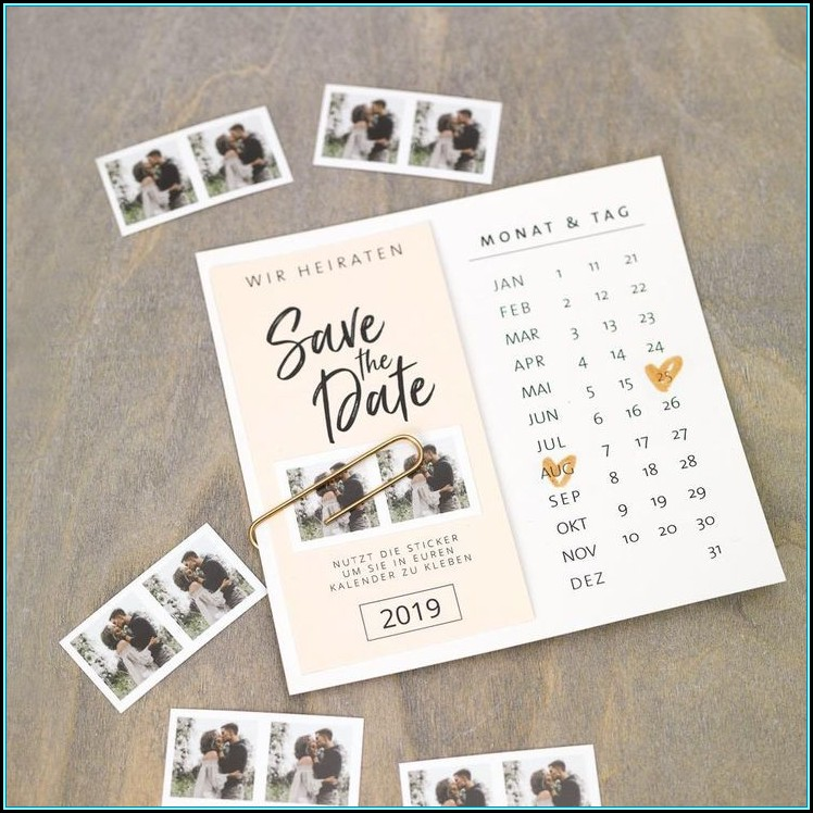 Save The Date Calendar Template 2019