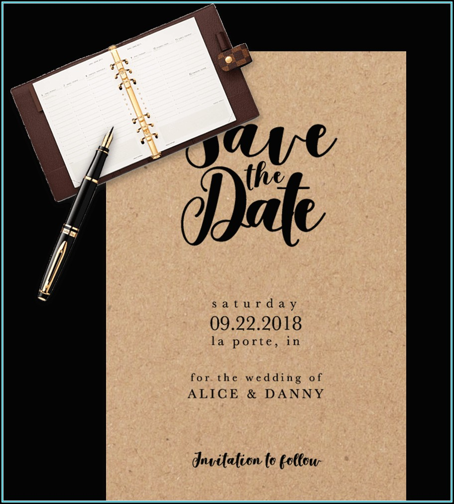 Save The Date Calendar Template Free Download