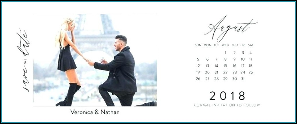 Save The Date Calendar Template Psd