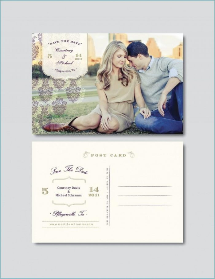 Save The Date Postcard Templates Free Download