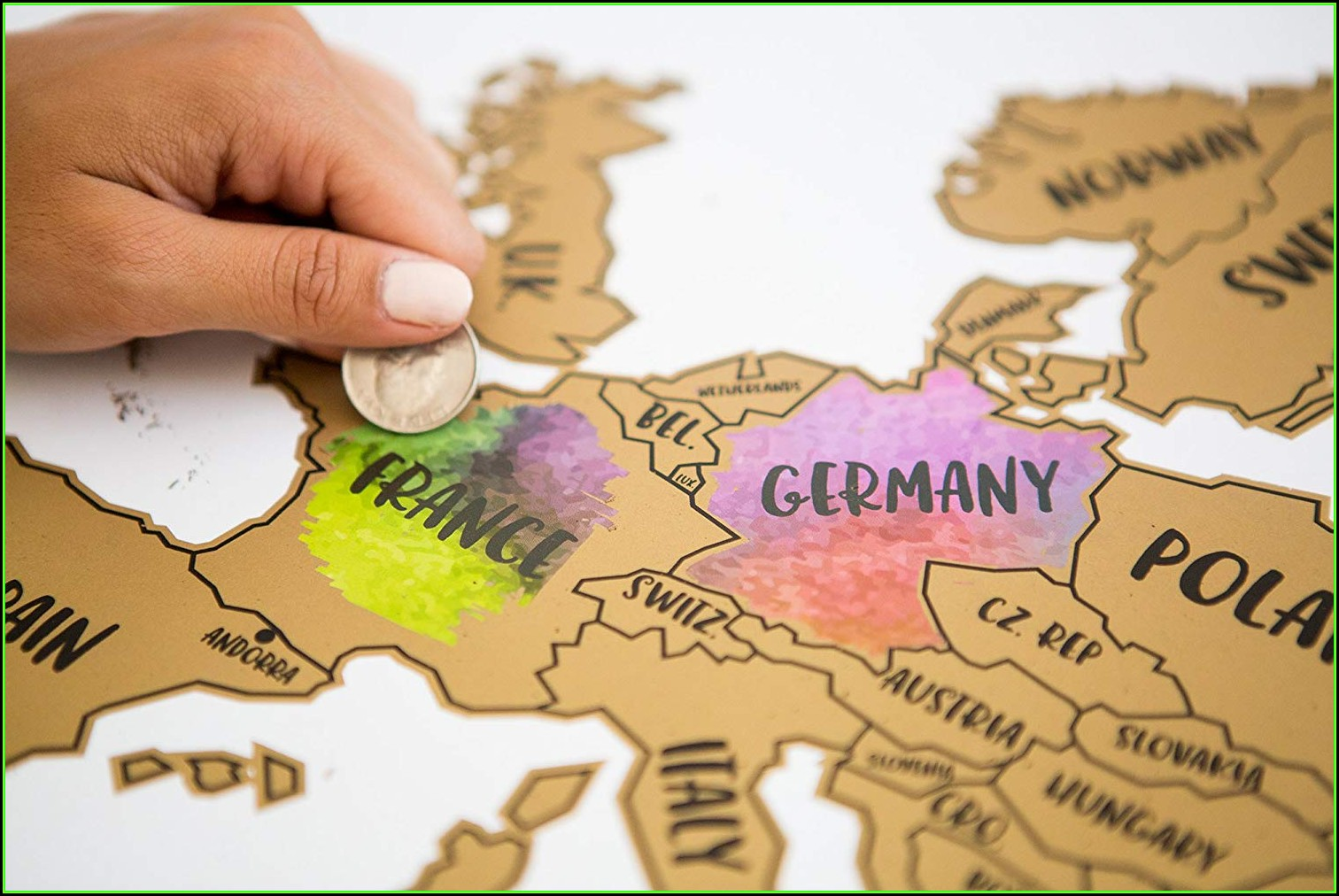 Scratch Map Europe Amazon