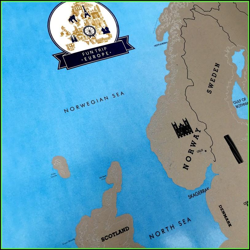 Scratch Map Europe Online