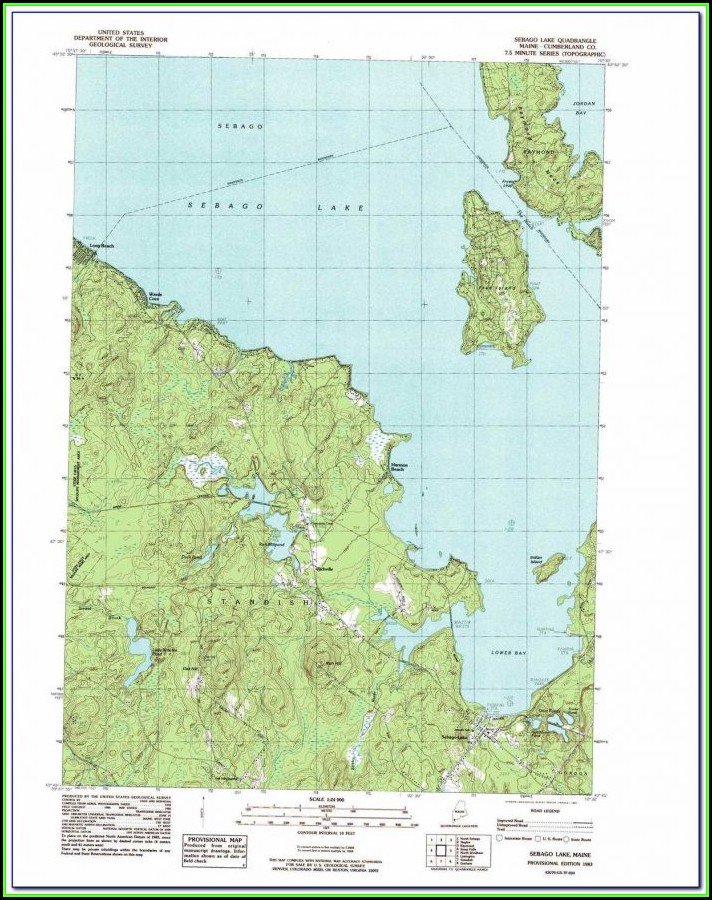 Sebago Lake Fishing Map