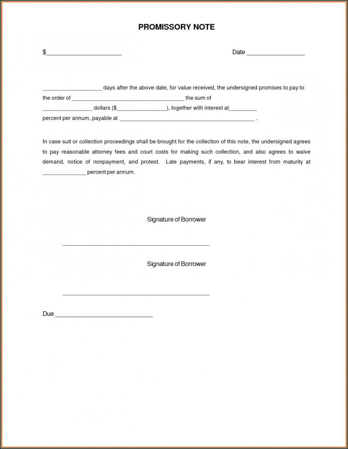 Secured Promissory Note Template Free