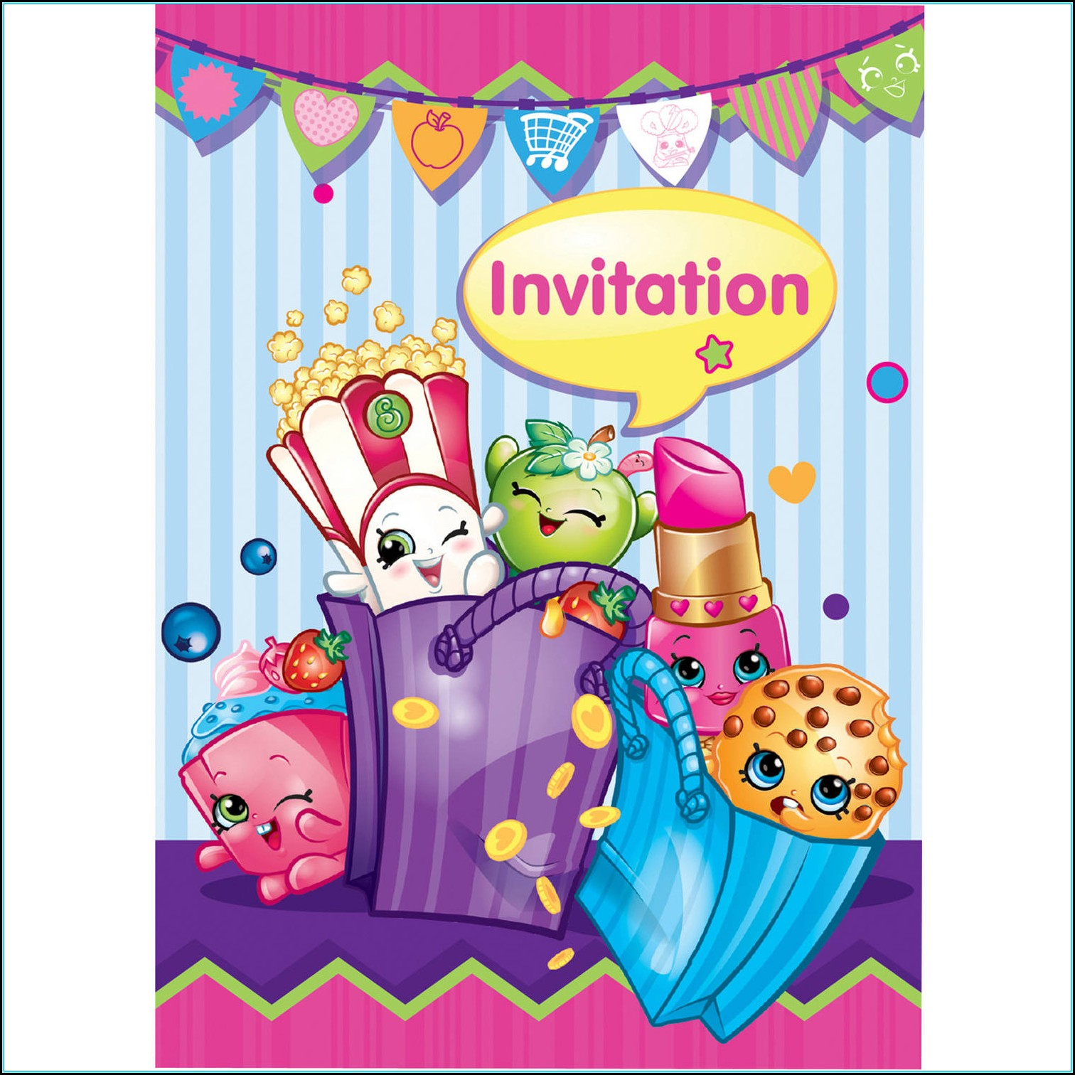 Shopkins Birthday Invitations Templates Free