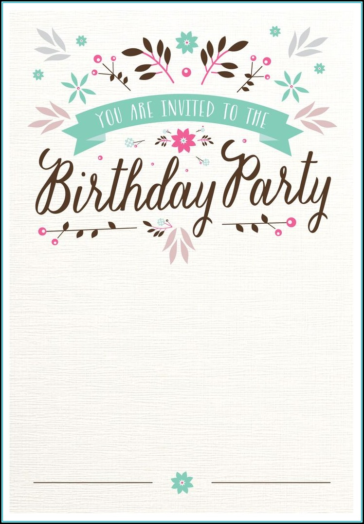 Shopkins Blank Invitation Template