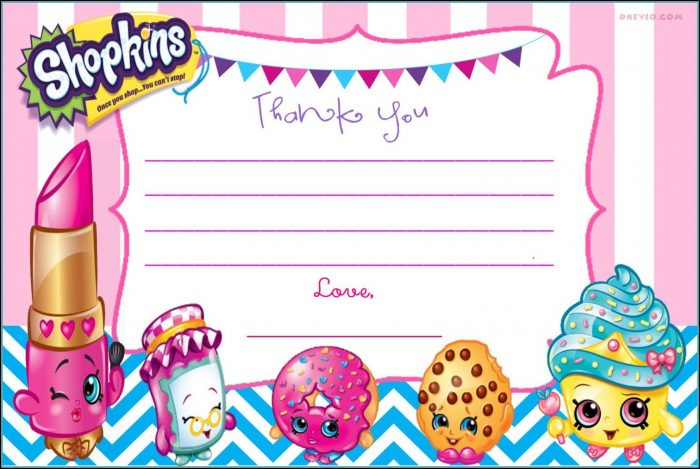 Shopkins Invitations Template Free
