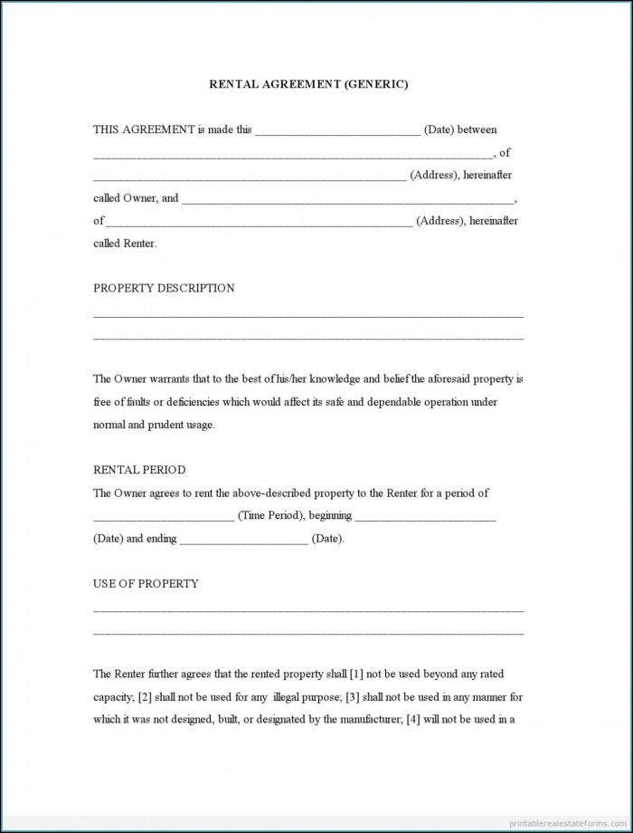 Simple Commercial Lease Agreement Template Word