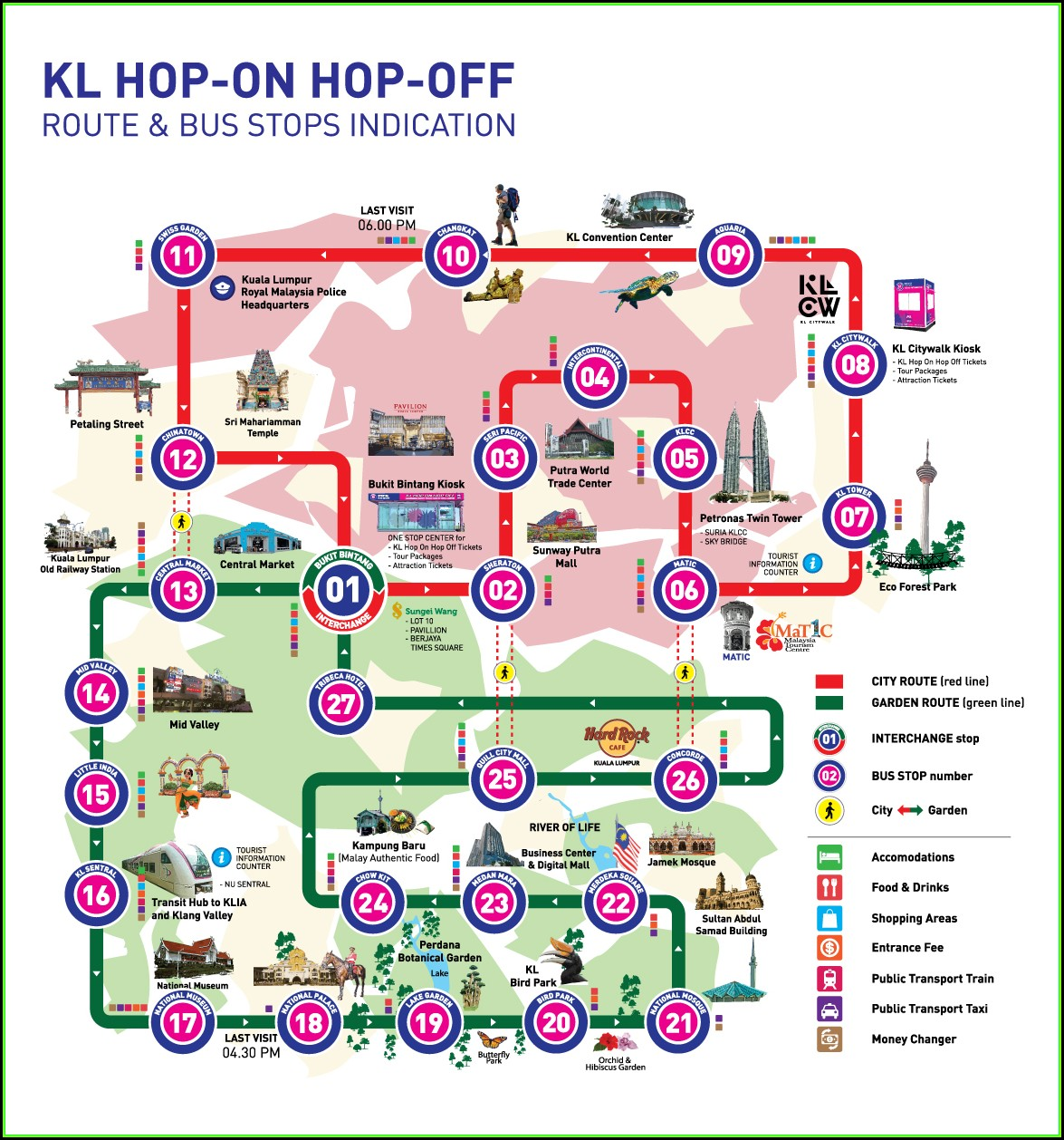 Singapore Airlines Hop On Hop Off Bus Route Map