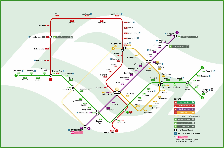 Singapore Hop On Hop Off Bus Map