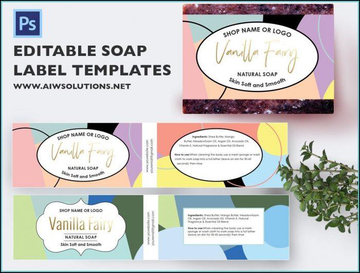 Soap Label Design Templates