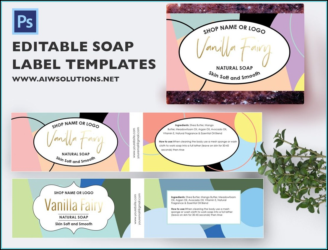 Soap Label Design Templates
