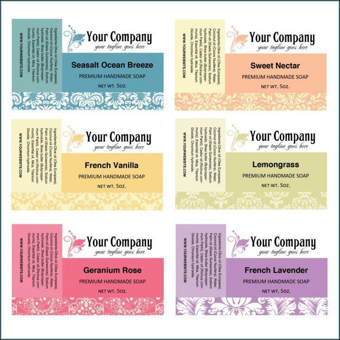 Soap Label Templates Free