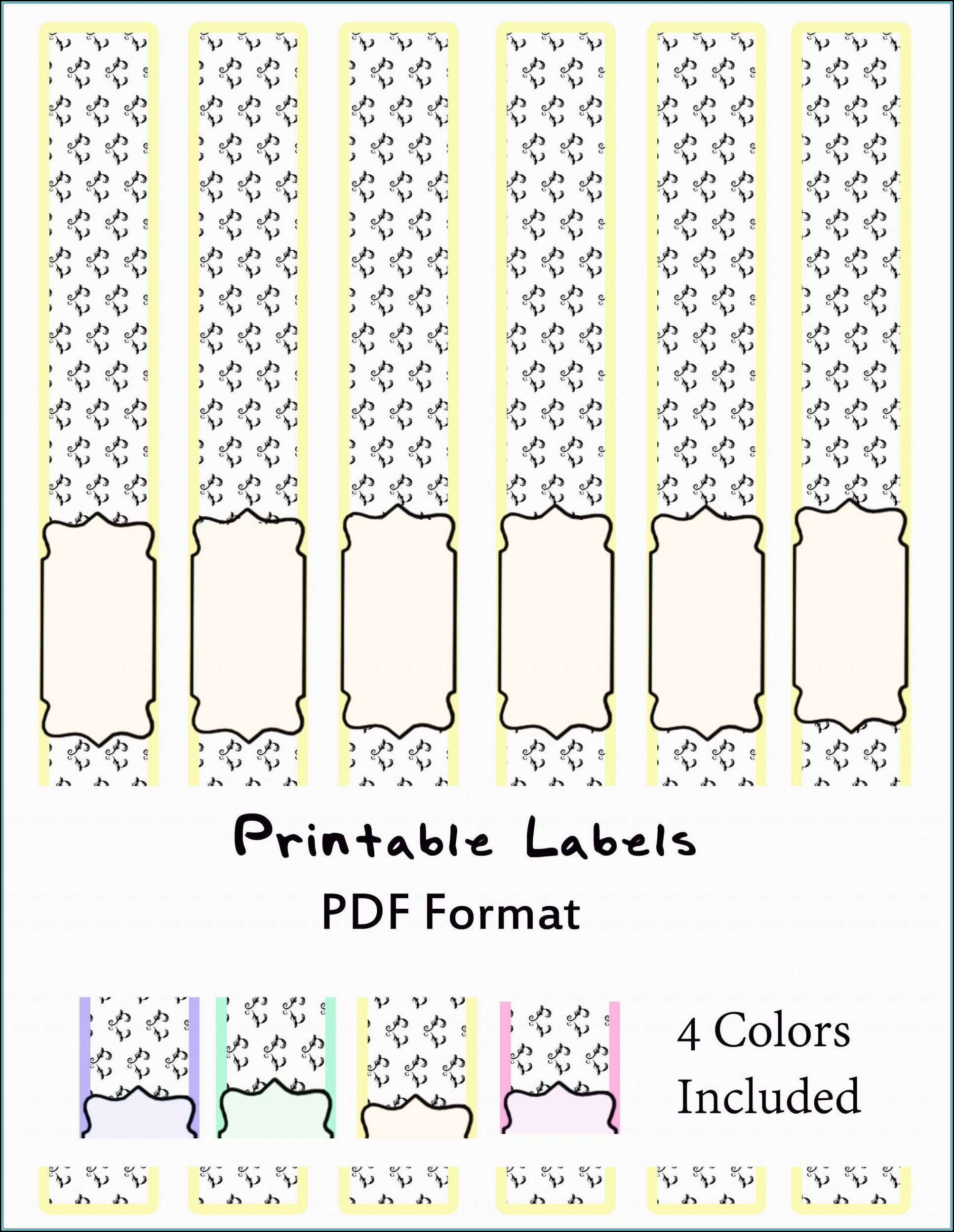 Soap Label Templates Pdf