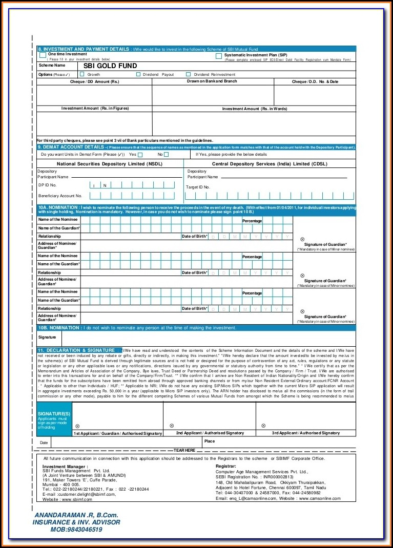 South Indian Bank Kyc Form