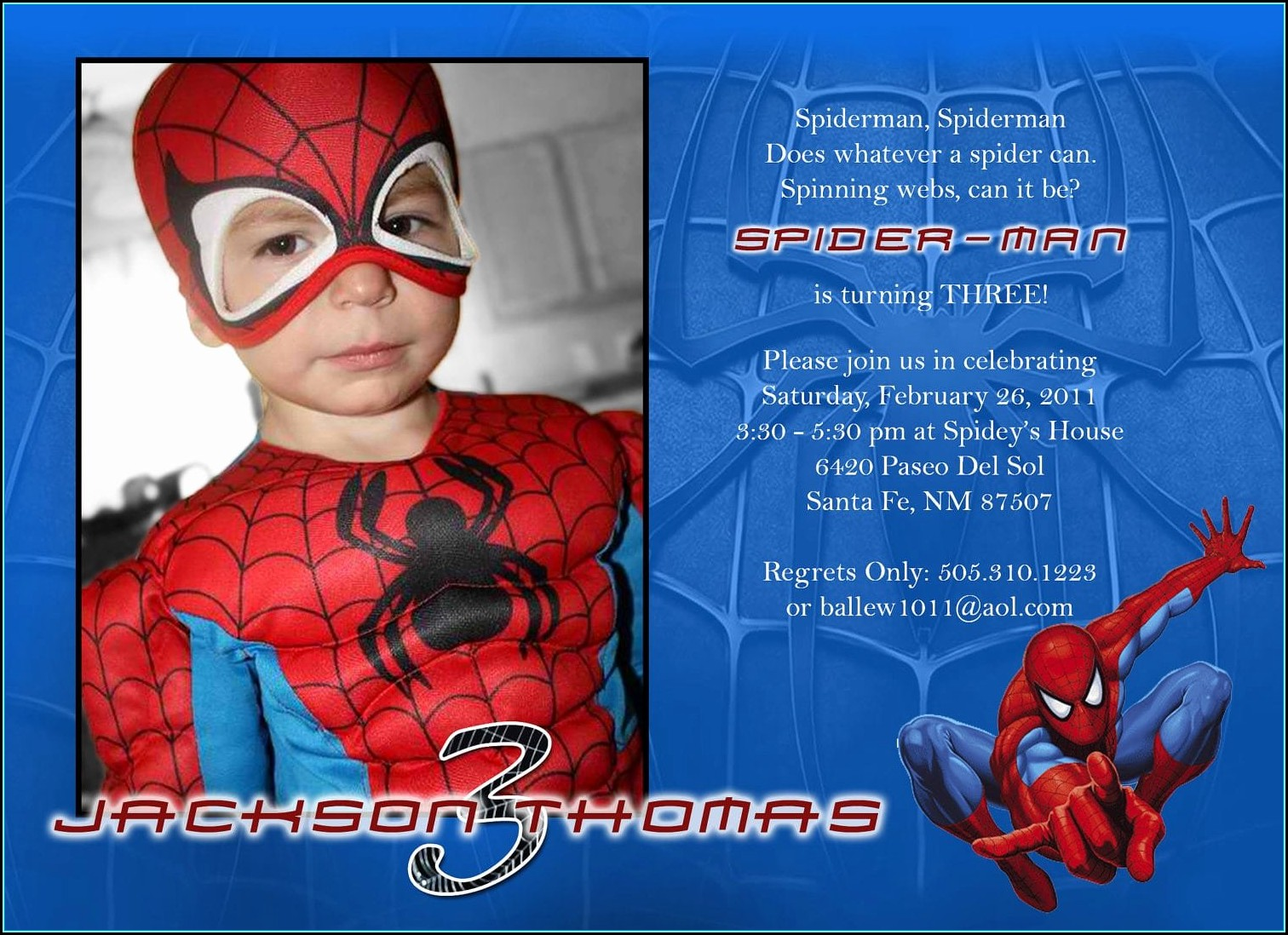 Spiderman Birthday Invitation Templates