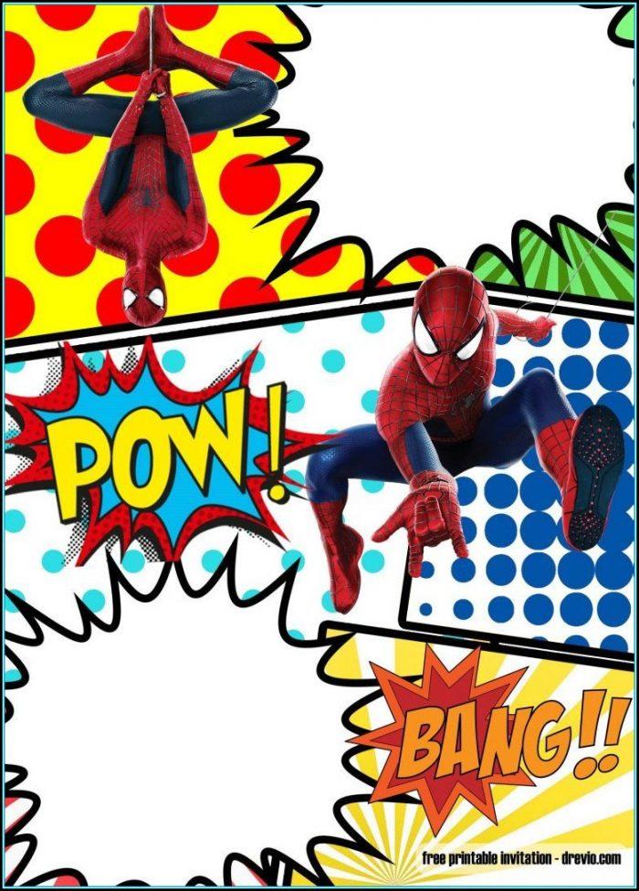 Spiderman Invitation Template