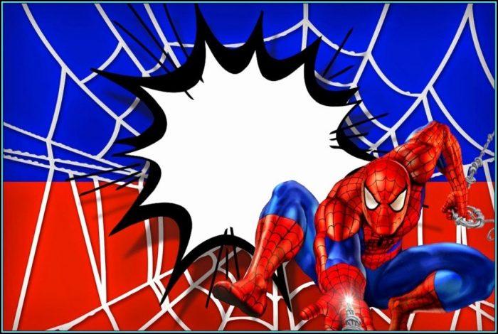 Spiderman Invitation Template Free