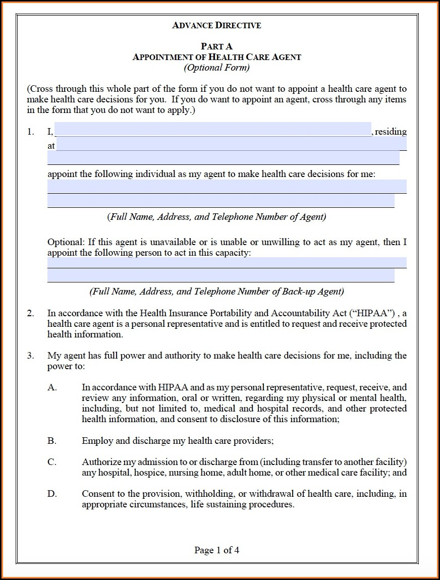 State Of Colorado Advance Directive Form
