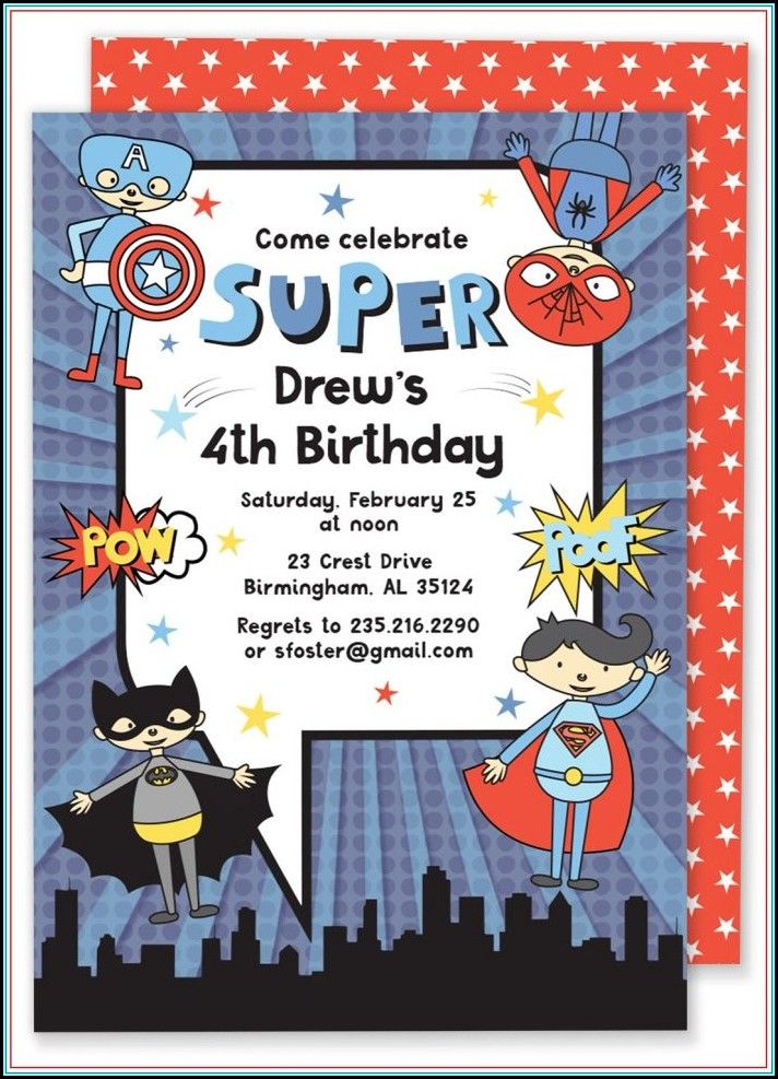 Superhero Invitation Template Free Download