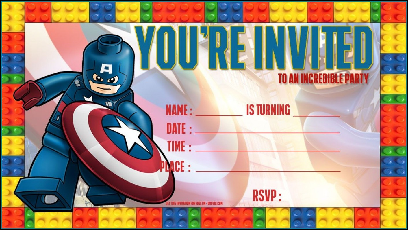 Superhero Invite Template Free