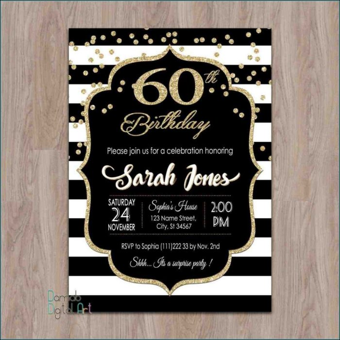 Surprise Party Invitation Template For Word