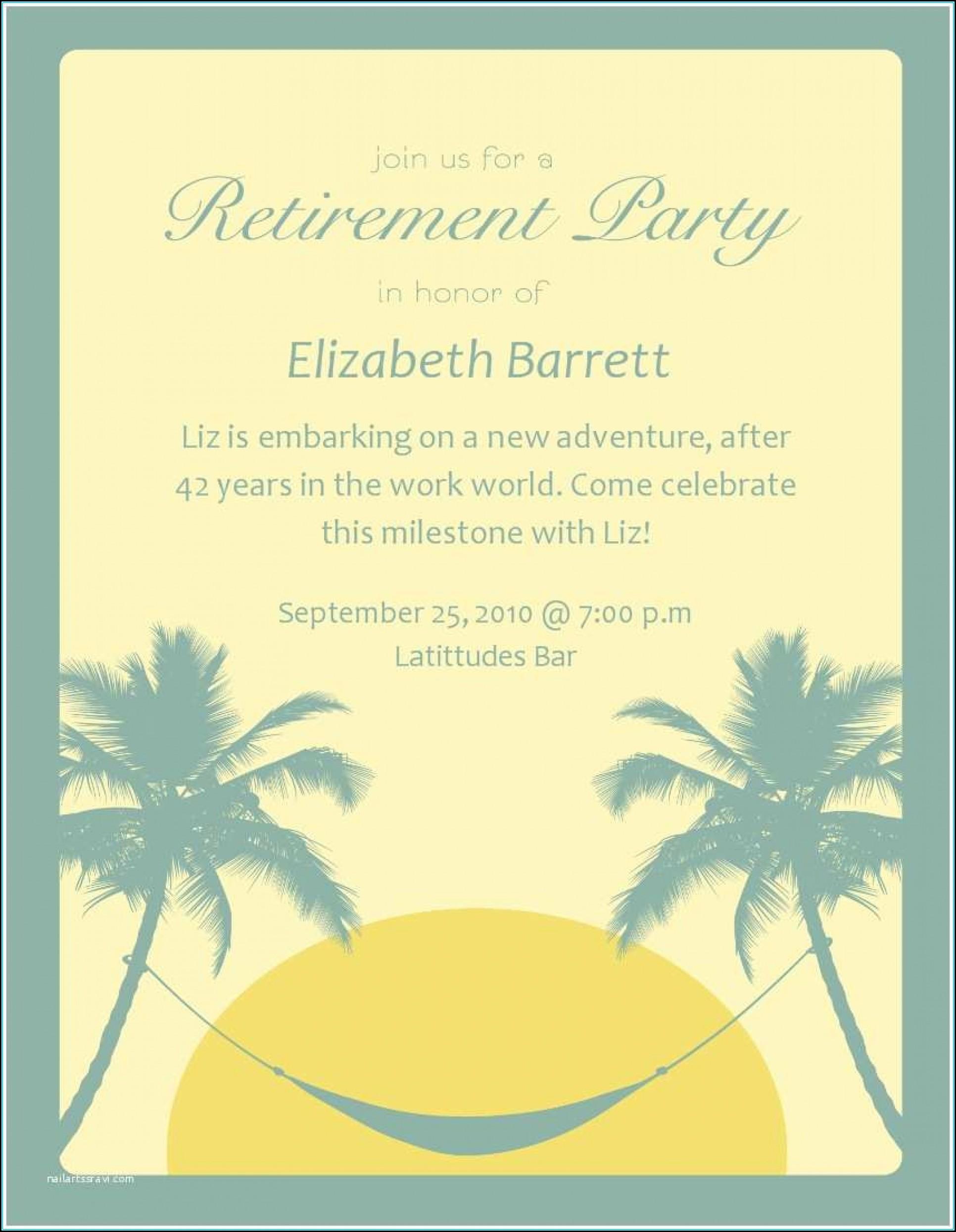 Surprise Retirement Party Invitation Template Free