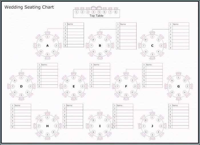 Table Seating Plan Template Free