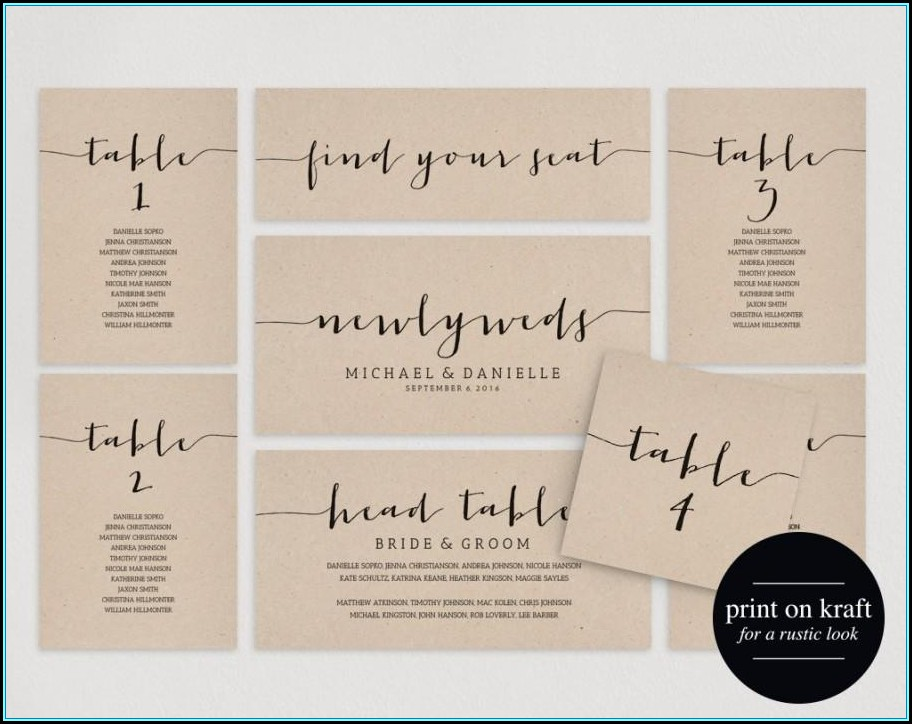 Table Seating Plan Template