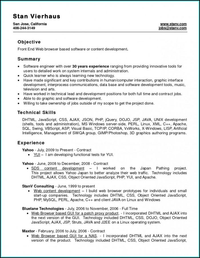 Teachers Cv Templates