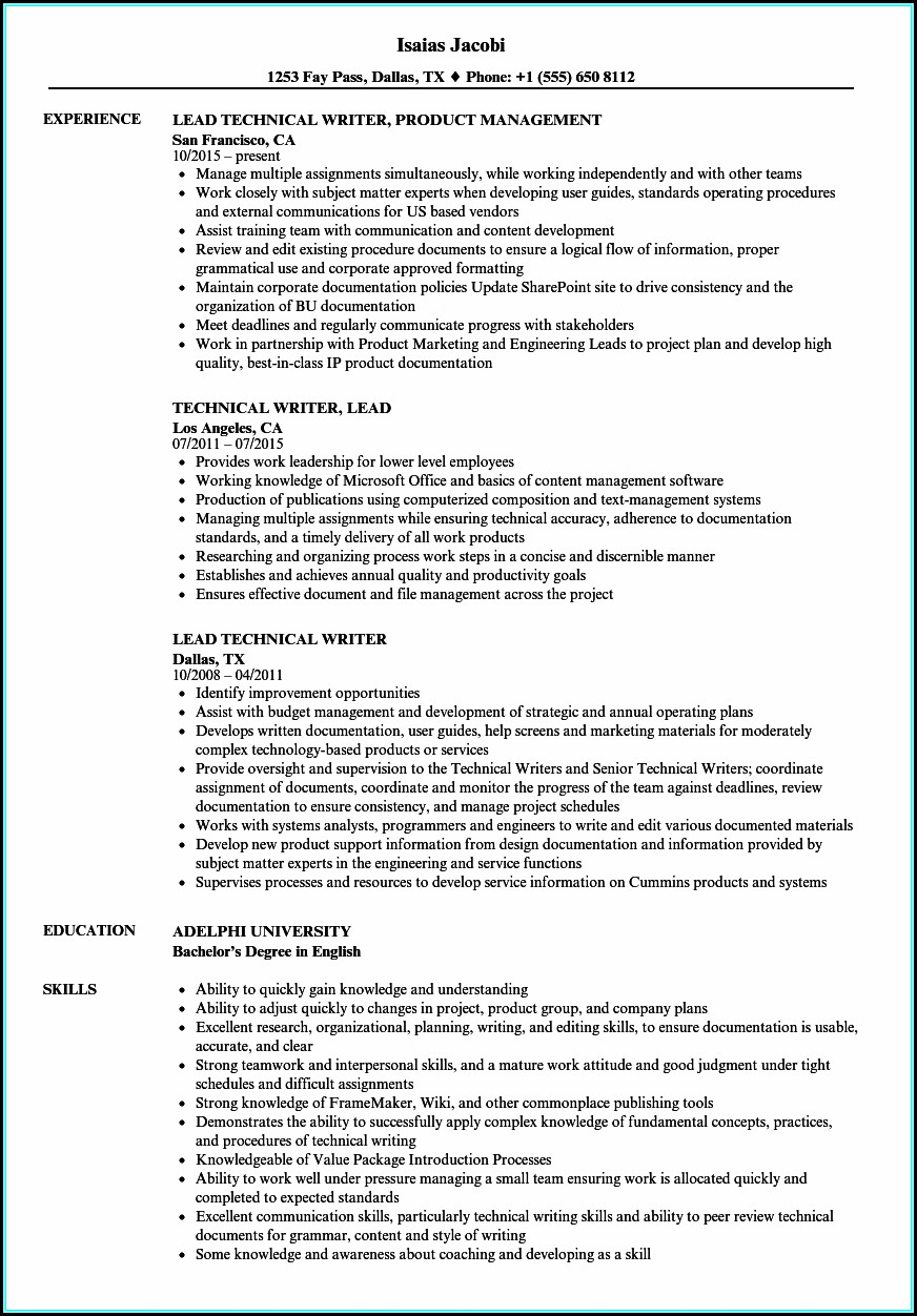 Technical Resume Writing