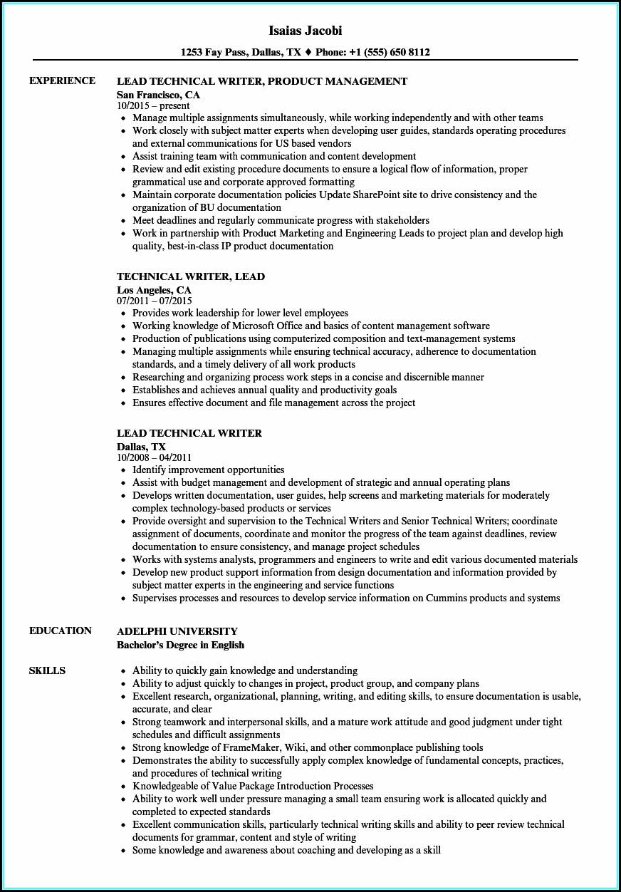 Technical Resume Writing
