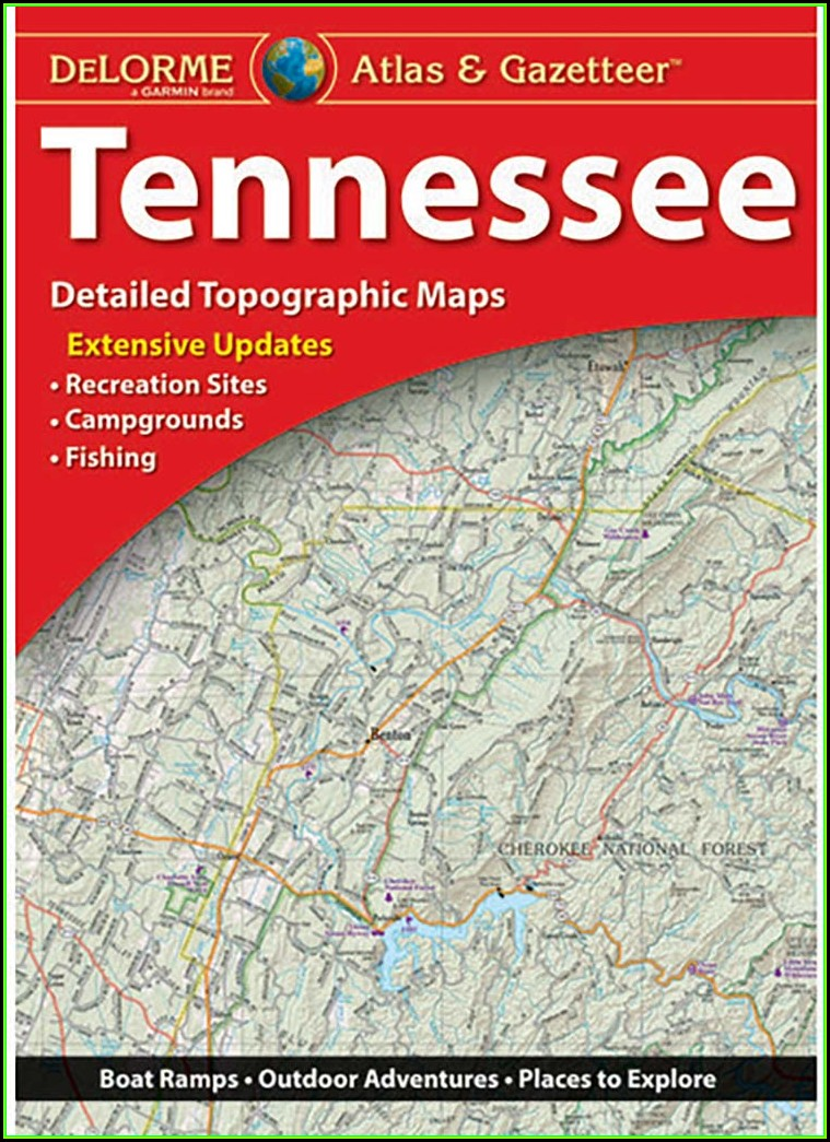 Tennessee Gazetteer Map