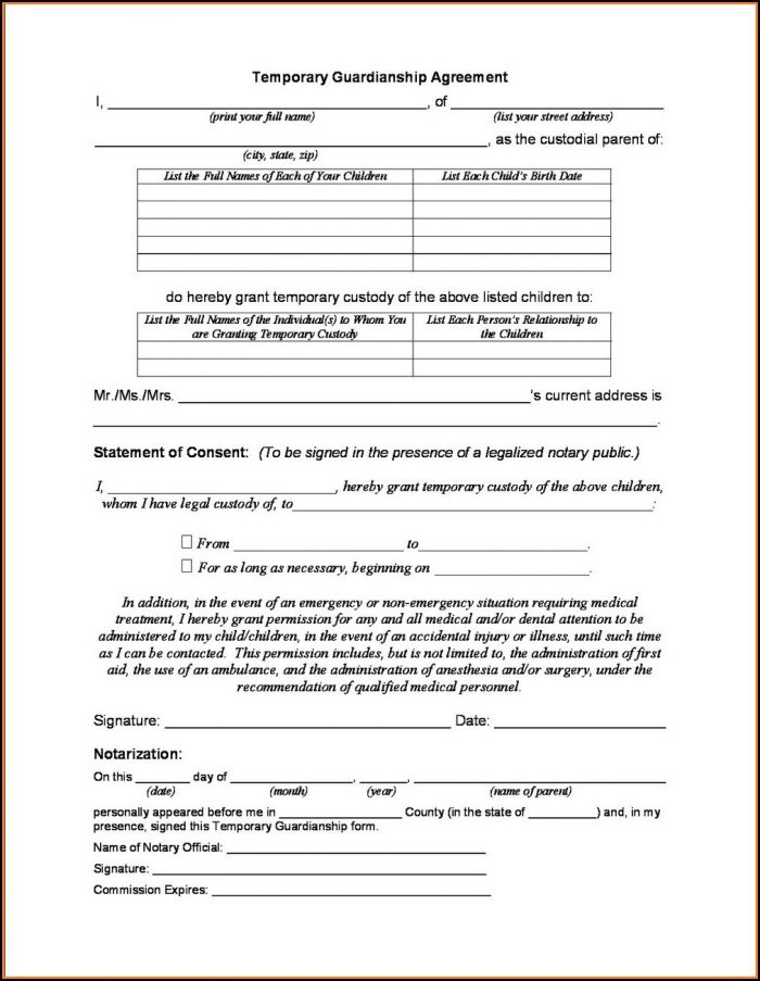 Texas Guardianship Application Form