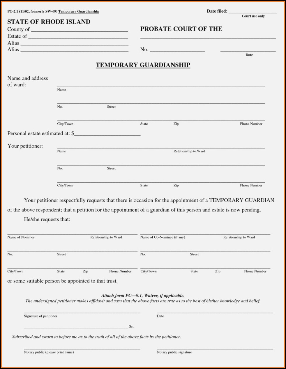 Texas Legal Guardianship Forms Free