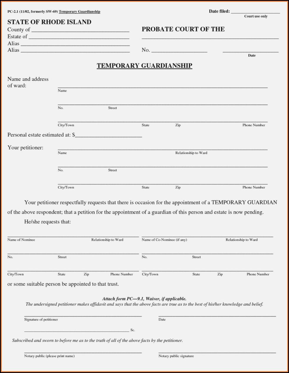 Texas Legal Guardianship Forms Free