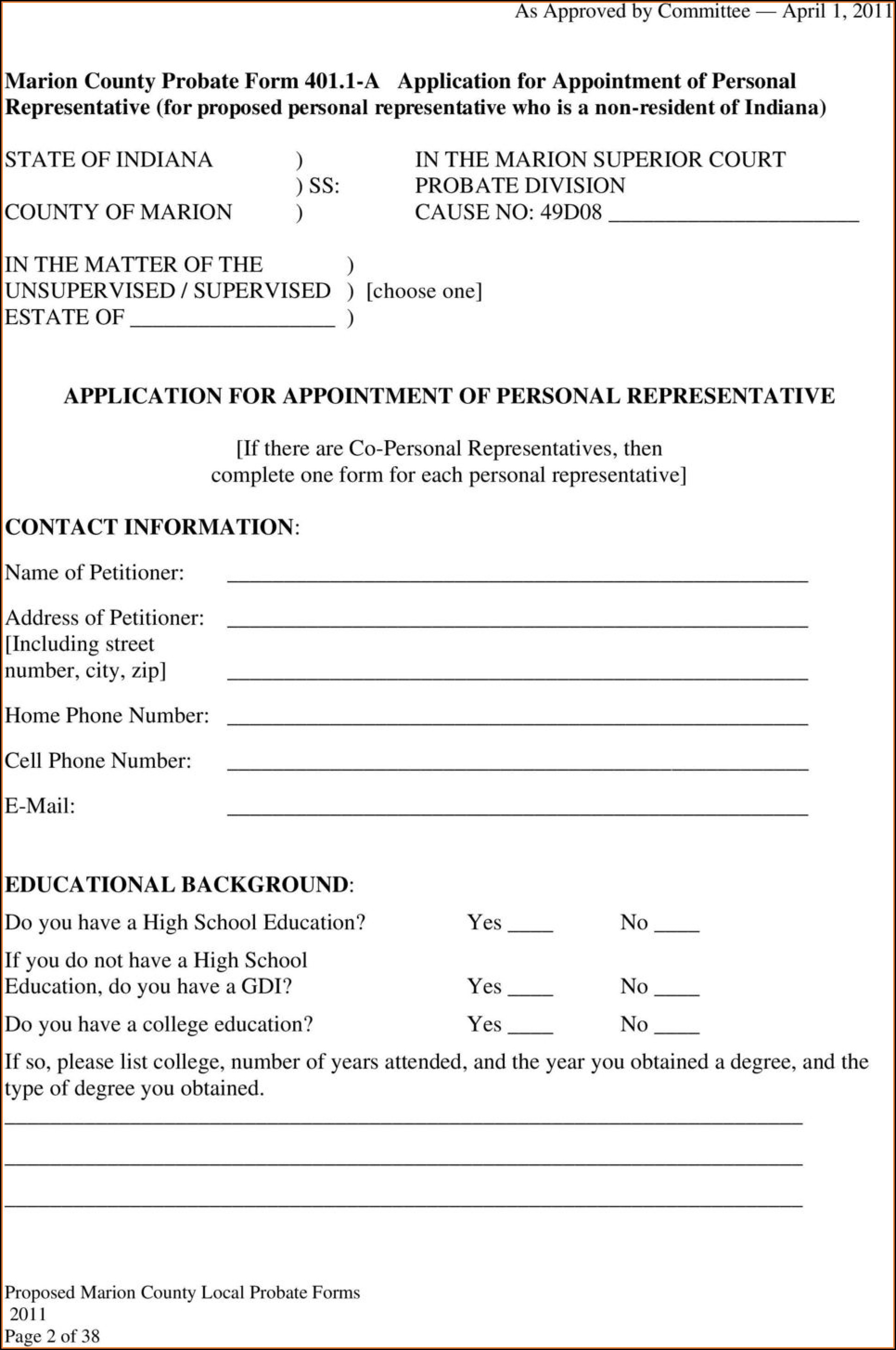 Texas Probate Guardianship Forms