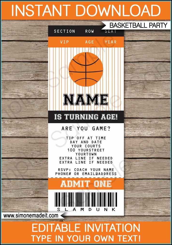 Ticket Invitation Template Free Download