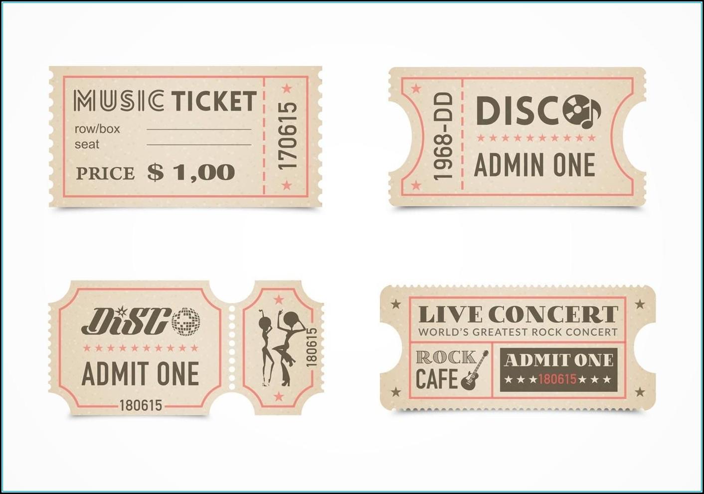 Ticket Stub Template Free