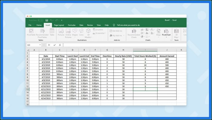 Time Study Template Excel Free