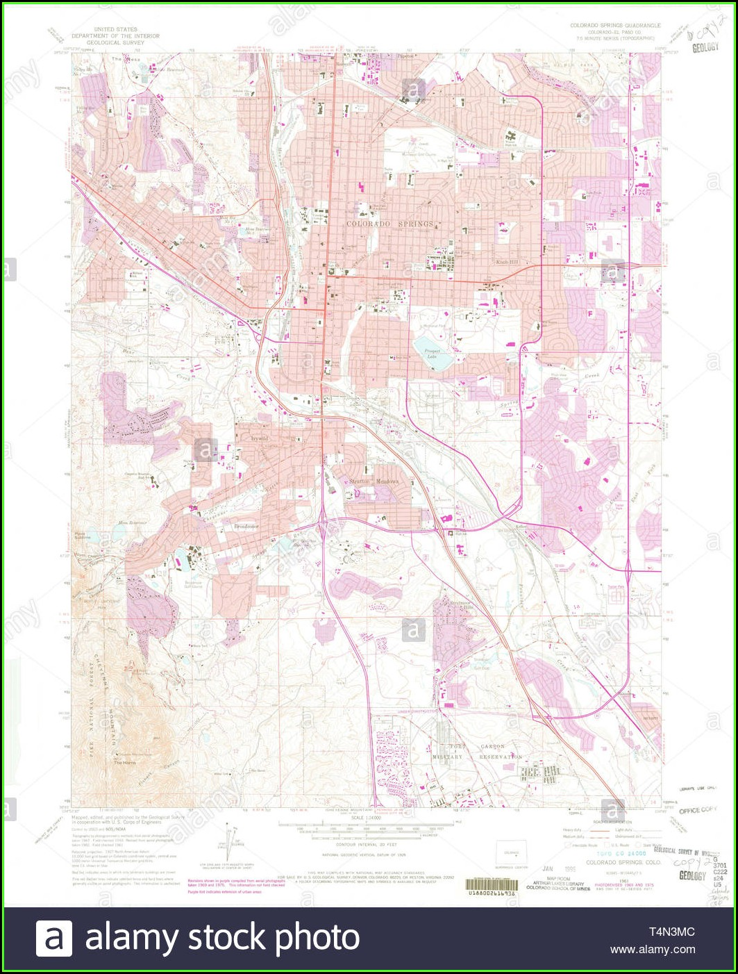 Topo Map Colorado Springs