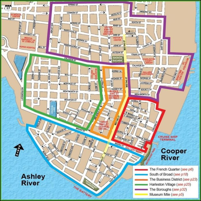 Touring Historic Charleston Bus Map
