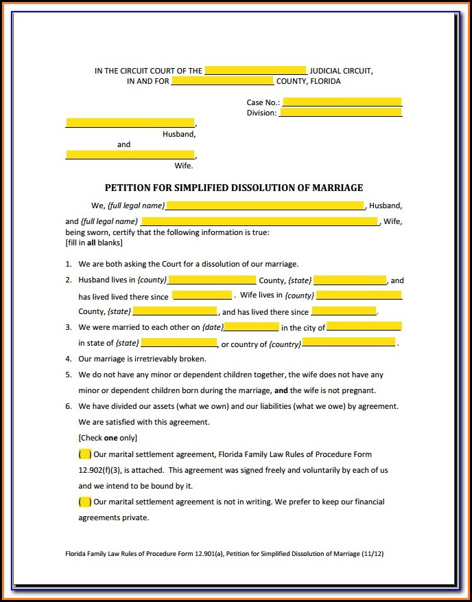 Uncontested Divorce New York Forms